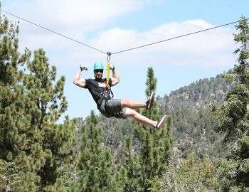 Tree Ziplining in Big Bear