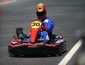 Go Kart Racing Around Big Bear Track