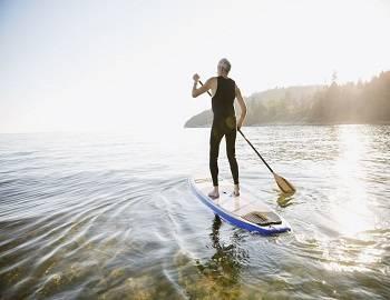 Paddleboarding on Big Bear Lake