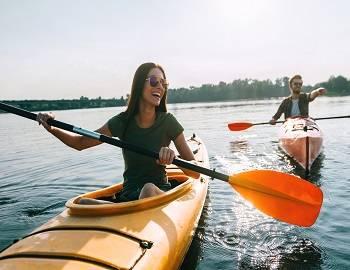 Kayaking on Big Bear Lake