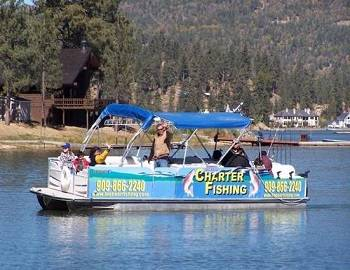Charter Fishing Boat on Big Bear Lake