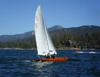 Sailing on Big Bear Lake