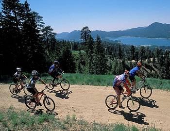 Biking Around Big Bear Lake